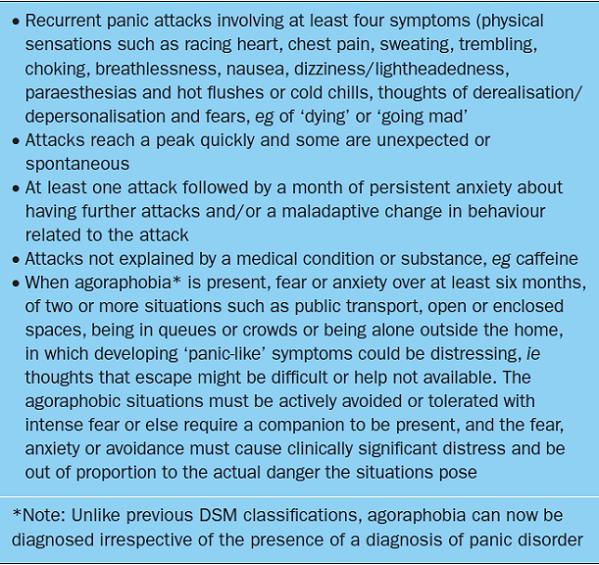 panic disorder causes
