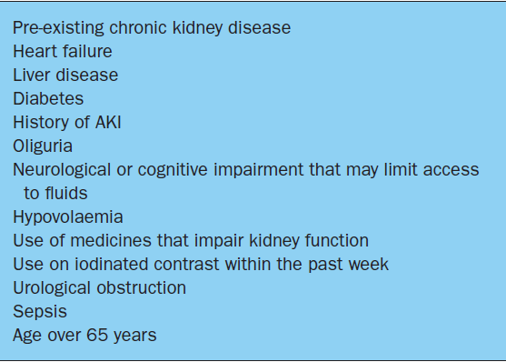 Recognition and management of acute kidney injury